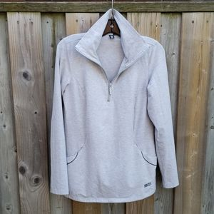 Roots grey athletic pullover collared half zip up